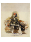 Portrait of Abu-Ul-Mejid Sultan of Turkey Seated Full Length in Military Dress Wearing the Order Giclee Print by Sir David Wilkie