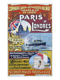 Paris to London; Paris a Londres Giclee Print