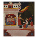 Pancham Ragini - a Handmaiden of an Enamoured Couple Rewards a Musician Giclee Print