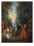 A Rural Feast, a Fete Champetre Giclee Print by Nicolas Lancret