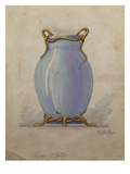 A Design for an Oviform Blue Vase Giclee Print