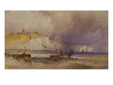 A Paddle-Steamer Leaving Dover Harbour Giclee Print by William Callow
