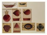 A Collection of Dish Designs of Different Shapes from the House of Carl Faberge Giclee Print