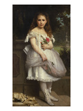 Portrait of Anna Mounteney Jephson, Full Length, Wearing a White Dress on an Terrace Giclee Print by William Adolphe Bouguereau