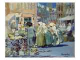 Spring Morning, Houston and Division Streets, New York Prints by George Luks