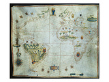 Portolan Chart of the Americas, Africa and Europe Posters by Joao Teixeira Albernaz