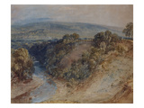 The Valley of the Washburn, Otley Chevin in the Distance Poster by William Turner