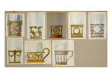 A Selection of Designs from the House of Faberge, Including Tumbler Holders and Tea-Glass Holders Giclee Print