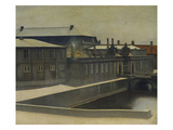Christiansborg Palace from the Marmorbroen Bridge Premium Giclee Print by Vilhelm Hammershoi
