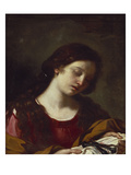 The Magdalen Contemplating the Nails of the Passion Lámina giclée por Guercino (Giovanni Francesco Barbieri)