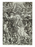 The Virgin and Child Surrounded by Many Angels Giclee Print by Albrecht Dürer