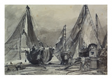 Fishing Boats on a Beach, Probably at Brighton Prints by John Constable