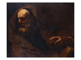 A Philosopher, Half Length, His Left Hand Resting on a Book Premium Giclee Print by Giovanni Battista Langetti