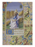 St Clement Wearing His Papal Tiara Sitting on a Rock Reading a Book, an Anc Prints by Master of Jean Charpentier
