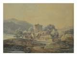 A Country Village Church Print by William Turner