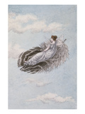 A Fairy Resting on a Feather Giclee Print by Amelia Jane Murray