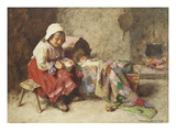 The Little Mother Giclee Print by John Henry Henshall