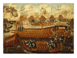 The Bucintoro on Ascension Day Giclee Print by Joseph Heintz (Manner of)