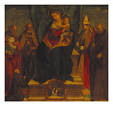 The Virgin and Child, Enthroned with Ss Prints