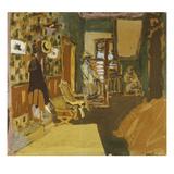 Miss Hessel in the Hallway; Mme Hessel Dans Le Vestibule Poster von Edouard Vuillard