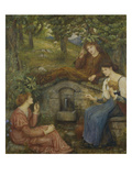 By a Clear Well, Within a Little Field Prints by Marie Spartali Stillman