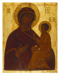 Tikhvin Mother of God, Icon Painted in the Manner of the Moscow School in the Manner of Andrei Giclee Print
