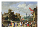 Gentry at a Village Kermesse (Panel 1) Giclee Print by Jan van Kessel