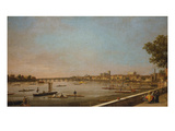 London: the Thames at Westminster and Whitehall from the Terrace of Somerset House Giclee Print by  Canaletto