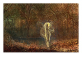 Autumn - 'Dame Autumn Hath a Mournful Face' - Old Ballad Poster by John Atkinson Grimshaw