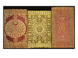 A Selection of Yastiks (Bolster Covers) in Various Coloured Velvets Poster