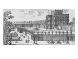 The Garden of Rome; Li Giardini Di Roma Print by Giovanni Battista Falda