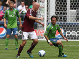 Seattle July 16 - Conor Casey and Mauro Rosales Photographic Print by Otto Greule Jr