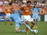 Houston June 26 - Brian Ching and Jeff Larentowicz Photographic Print by Bob Levey