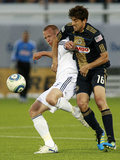 Vancouver, DA June 18 - Jay DeMerit and Veljko Paunovic Photographic Print by Jeff Vinnick