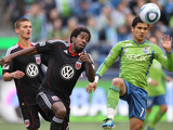 Seattle September 17 - Clyde Simms and Fredy Montero Photographic Print by Otto Greule Jr