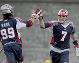 Boston, MA July 23 - Matt Poskay and Paul Rabil Photo by Jim Rogash
