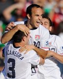Pasadena, CA June 25 - Alejandro Bedoya, Carlos Bocanegra and Landon Donovan Photo by Kevork Djansezian