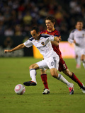 Carson, CA October 1 - Landon Donovan and Will Johnson Photographic Print by Victor Decolongon