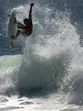San Clemente, CA  September 16 - Kelly Slater Fotografisk tryk af Donald Miralle