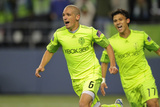 Seattle, WA October 4 - Fredy Montero and Osvaldo Alonso Photographic Print by Otto Greule Jr