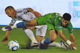 Vancouver, DA September 24 - Fredy Montero and Jay DeMerit Photographic Print by Nick Didlick