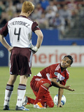 Frisco, TX April 8 - David Ferreira and Jeff Larentowicz Photographic Print by Brandon Wade