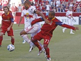Sandy, UT August 6 - Andy Williams and Thierry Henry Photographic Print by George Frey