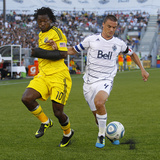 Vancouver, DA July 6 - Alain Rochat and Andres Mendoza Photographic Print by Jeff Vinnick