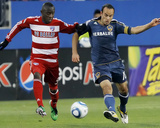 Frisco, TX May 1 - Jair Benitez and Landon Donovan Photographic Print by Brandon Wade