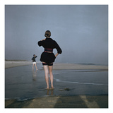 Vogue - December 1946 - Wading at Low Tide Regular Photographic Print by Serge Balkin