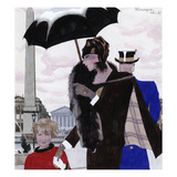 Vogue - October 1927 Regular Giclee Print by Pierre Mourgue