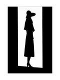 Vogue - April 1930 - Silhouette of a Louiseboulanger Dress Photographic Print by  Barré