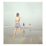 Vogue - December 1946 - Beach Walk Regular Photographic Print by Serge Balkin