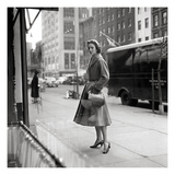 Vogue - February 1954 Regular Photographic Print by Frances Mclaughlin-Gill